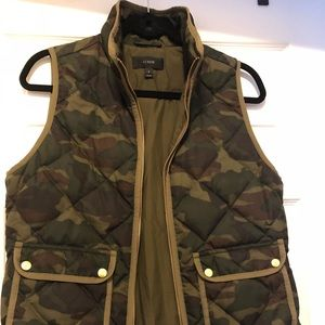 Camouflage J Crew Quilted Vest